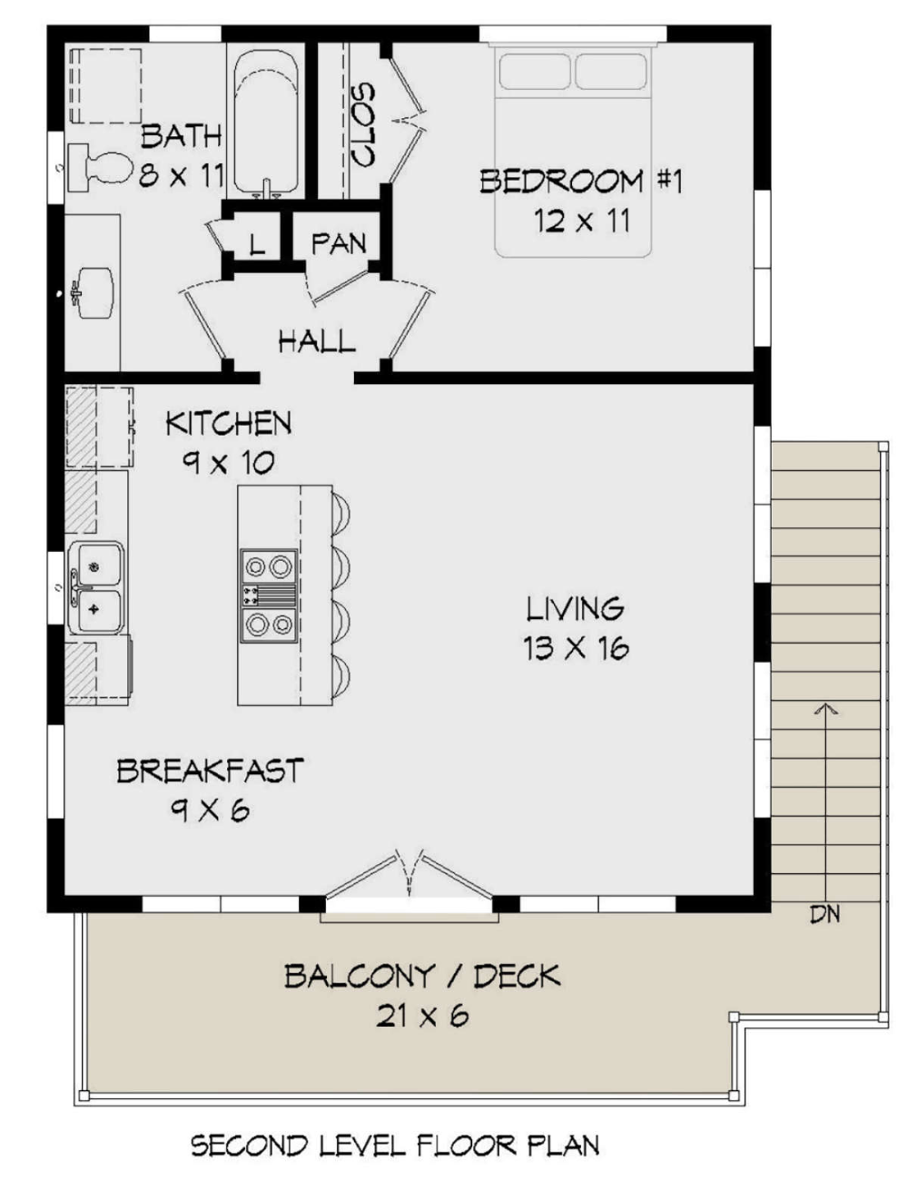 House Plan 940 00198 Modern Plan 650 Square Feet 1 Bedroom 1 Bathroom One Bedroom House Plans One Bedroom House Modern Style House Plans