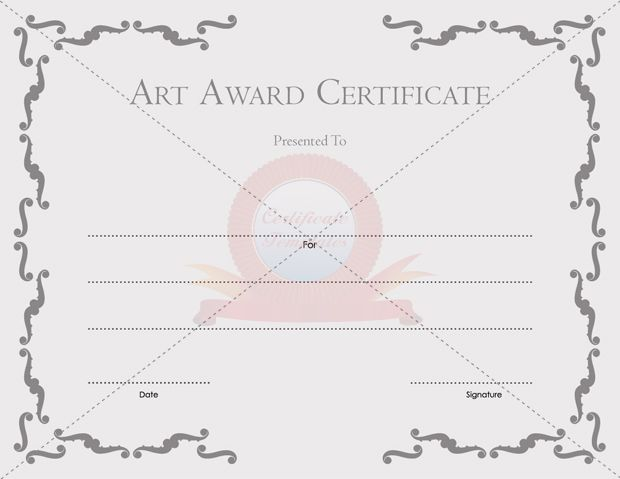 Art Award Certificate OUTSTANDING READER AWARD TEMPLATE - blank certificates templates free download