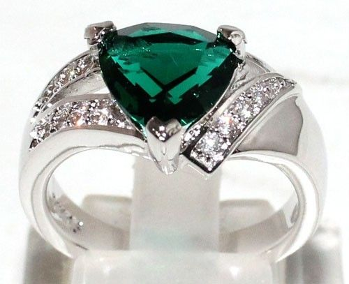 Gorgeous Jewelry 2 26ct Green Tourmaline 0 74ct Quartz w Gold Filled Ring Sz 7 5   eBay