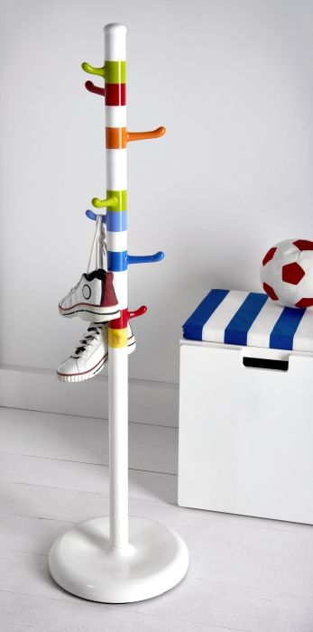 Krokig Clothes Stand White Multicolor Hallway Organization