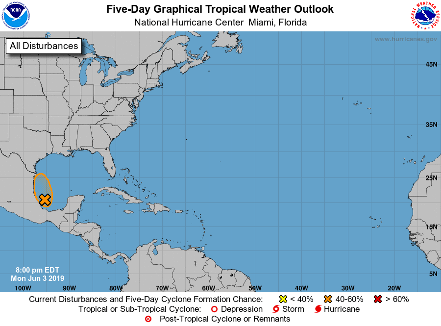 Atlantic 5 Day Graphical Tropical Weather Outlook Hurricane Center Forcast National Hurricane Center Florida Hurricane Florida Storm