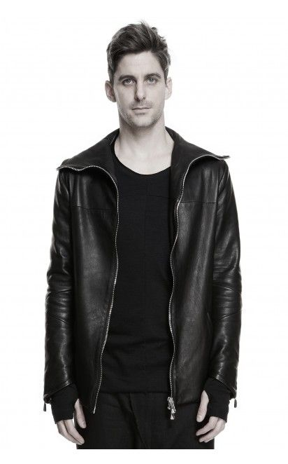 Mille900quindici hooded leather jacket