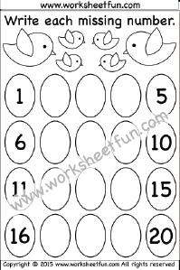 Missing Numbers – 1-20