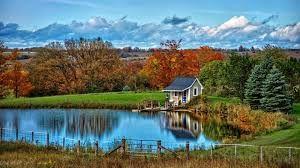 Resultat De Recherche D Images Pour Fonds D Ecran Windows 10 Landscape Wallpaper Nature Wallpaper Autumn Lake