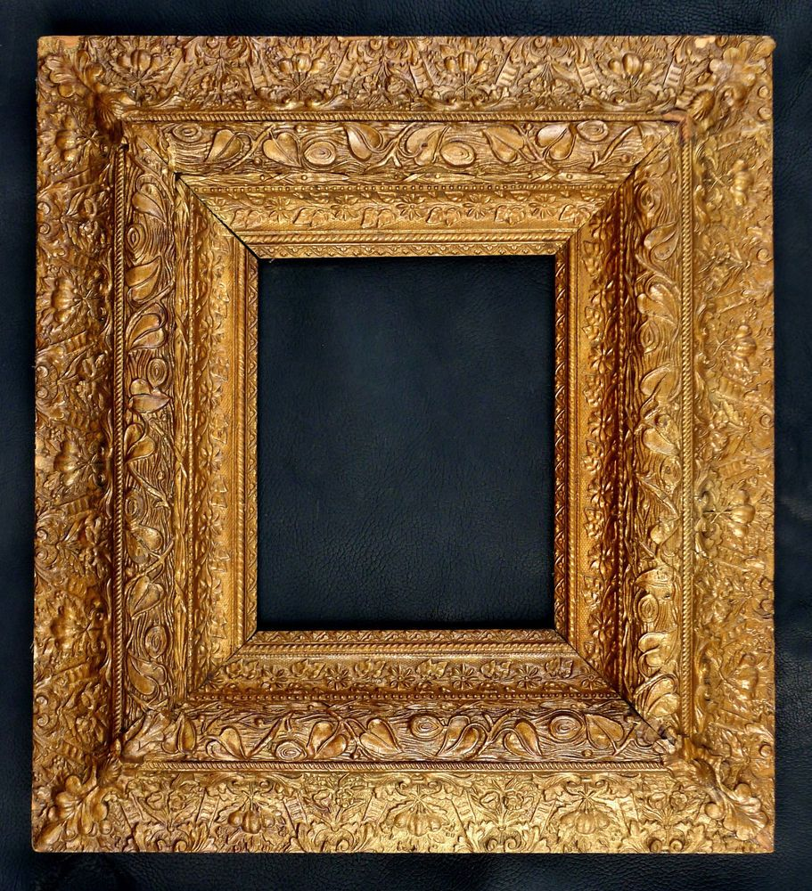 Antique Victorian Ornate Gesso Gold Wood Picture Frame 8x10 20x18
