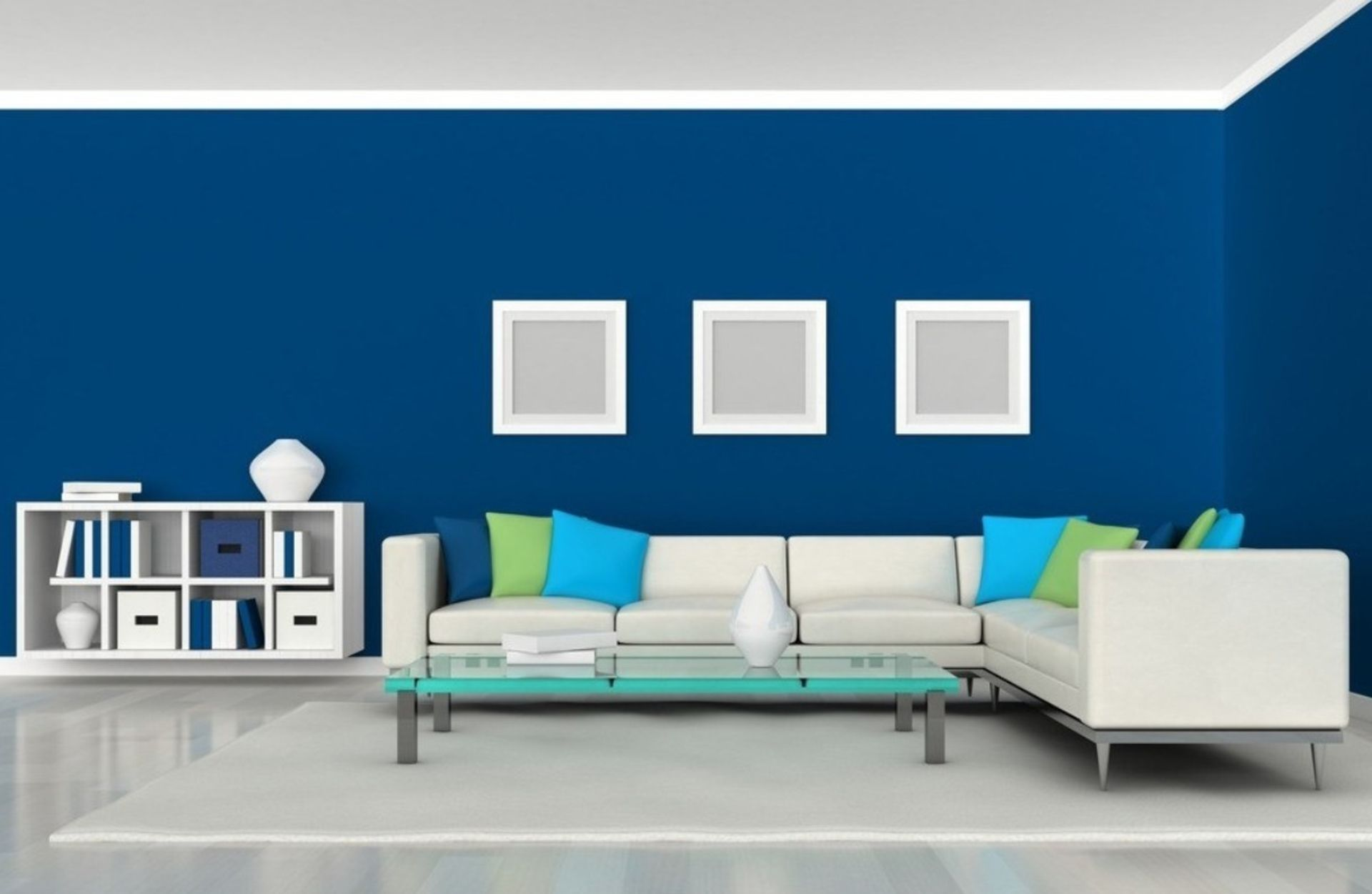exciting look of simple decorating ideas for living room awesome simple blue living room decors with white faux leather sectional sofa and portrait decor