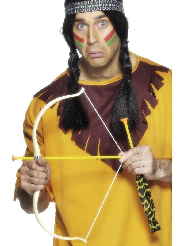 FANCY DRESS COSTUME ACCESSORY INDIAN BOW /& ARROW