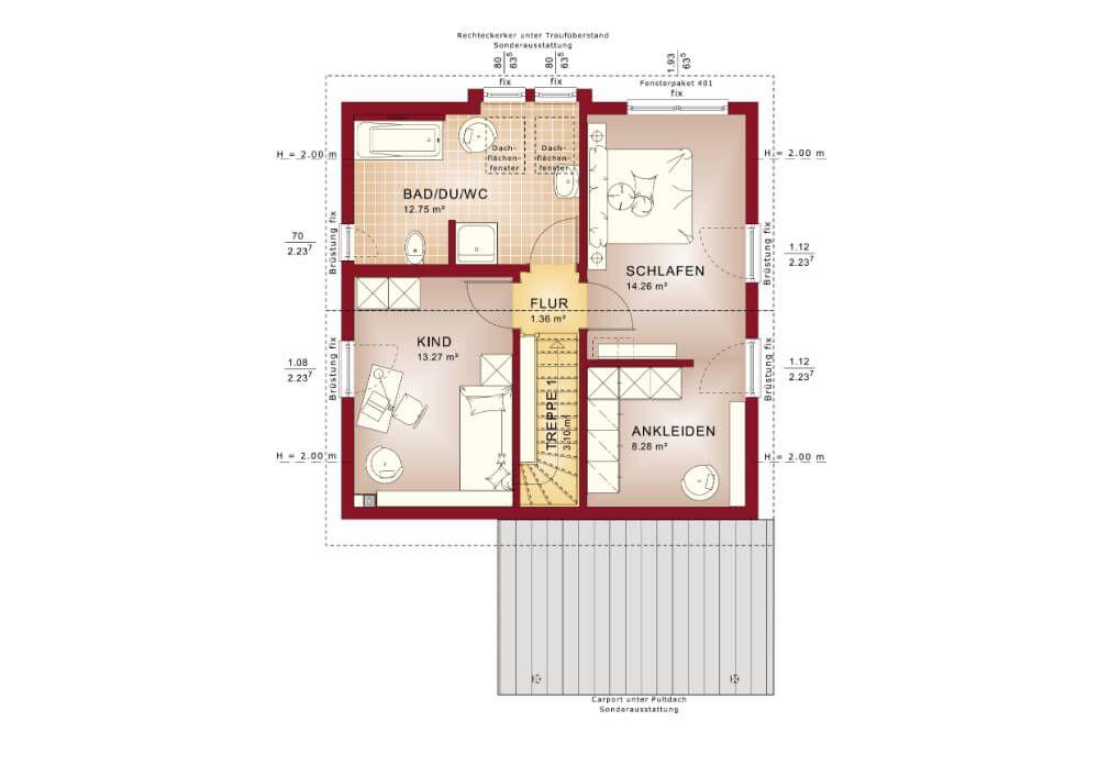 Grundriss Haus Solution 106 V6 Living Haus Einfamilienhaus Bauen