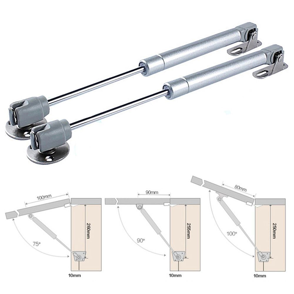 1 Pneumatic Support Lift Up Family Cabinet Door Hydraulic Gas Spring Stay Strut Furniture Hinges Hinges For Cabinets Kitchen Cabinets Door Hinges