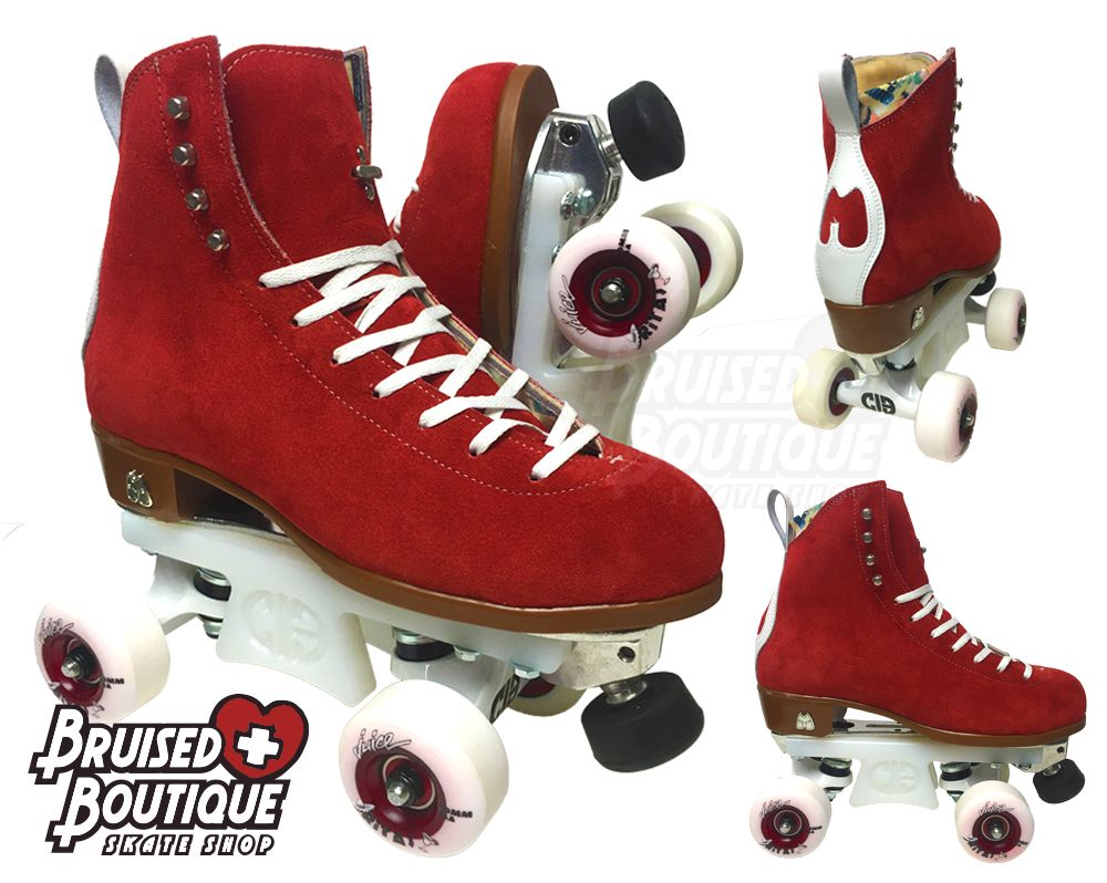 Did You Know You Can Order The Moxi Jack In Any Of The Moxi Suede Colors We Love These Festive Poppy Red Jacks Cust Custom Skates Roller Skates Roller Derby
