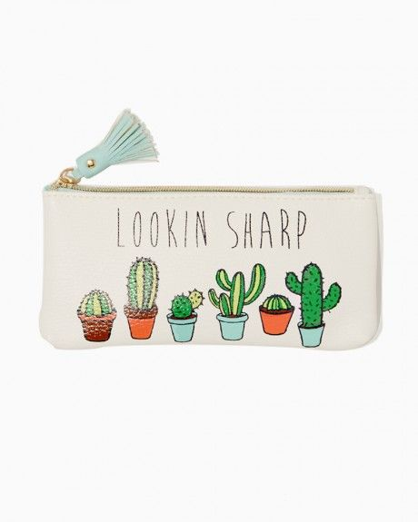 4db884ef7952 Lookin Sharp Cactus Pouch | Charming Charlie | bags & wallets in ...