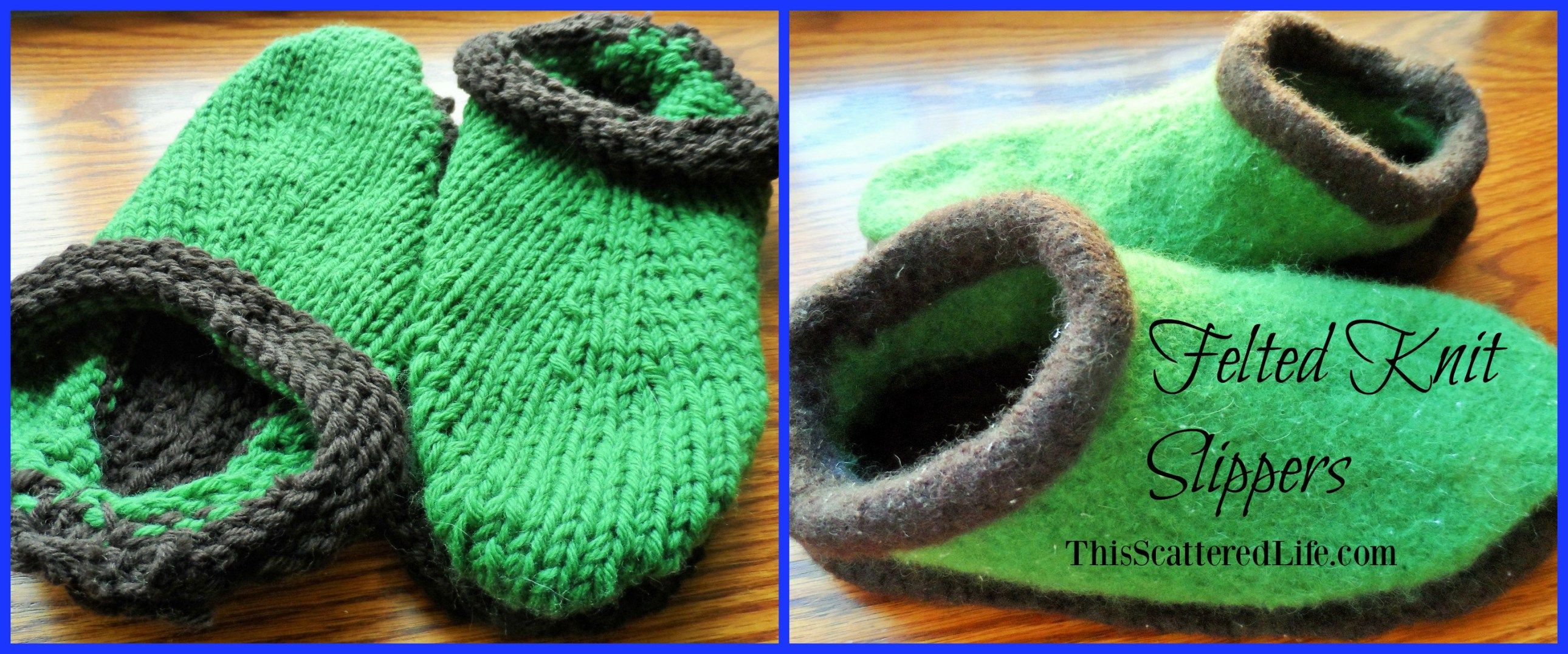 Felting 101: How to Felt Knitted Slippers | Felting and Felted slippers