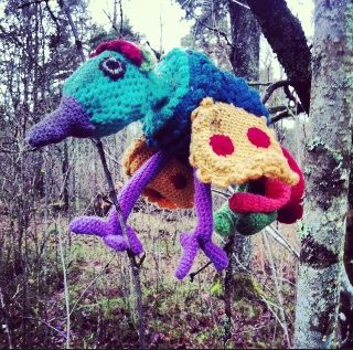 The yarnbombing of Garnapa, Sweden