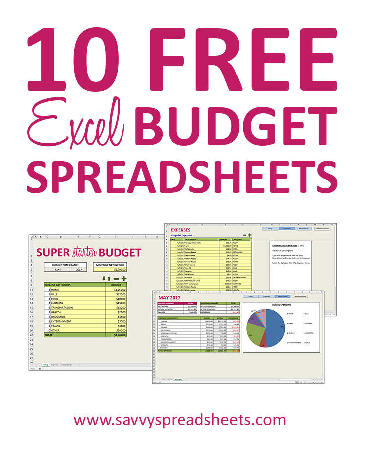 10 Free Budget Spreadsheets for Excel Budget spreadsheet
