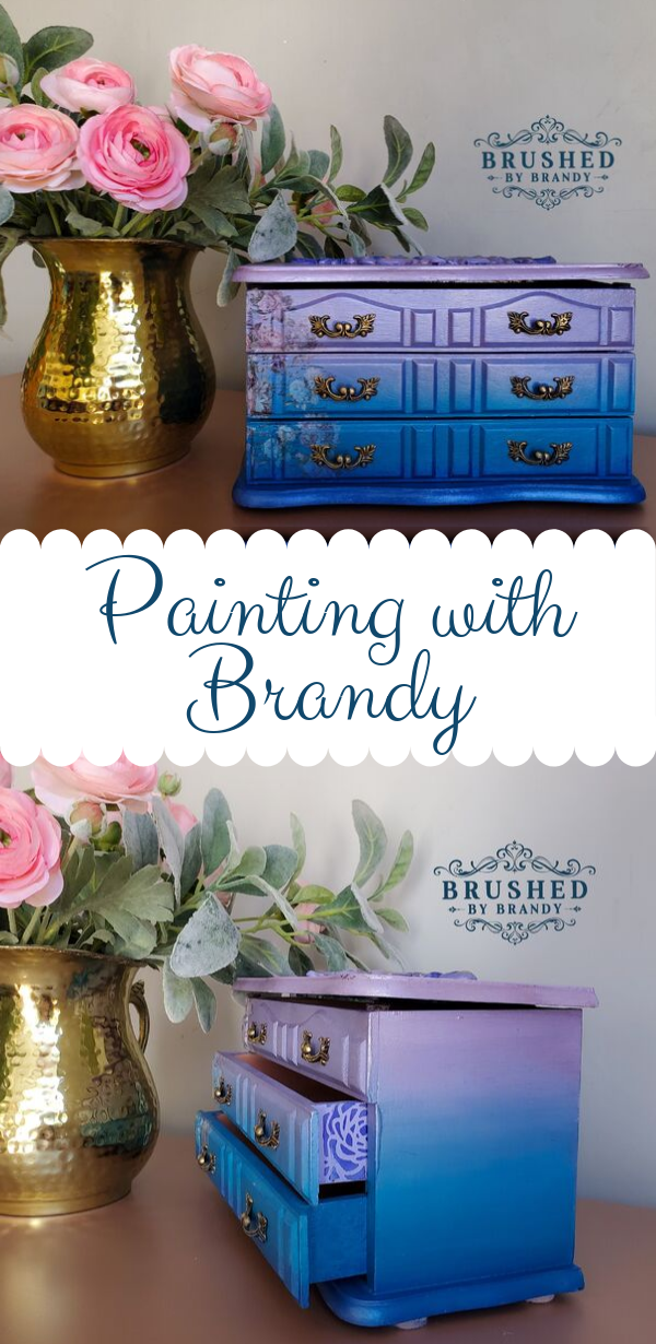 Mermaid Metallic Jewelry Box Mineral Chalk Painting Tutorials With Brushed By Brandy Painted Jewelry Box Diy Jewelry Box Makeover Painted Jewelry Boxes