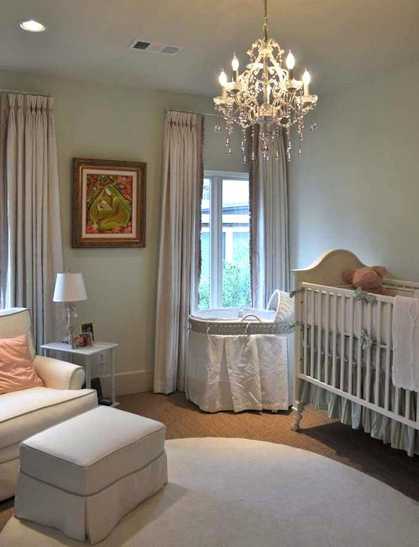 Soft Blue Simply Elegant Baby Nursery Idea