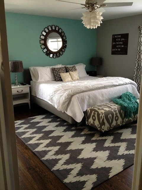 and Grey and teal Bedroom Ideas  Turquoise and grey give this bedroom a bedroomYellow and Grey and teal Bedroom Ideas  Turquoise and grey give this bedroom a bedroom Tryi...