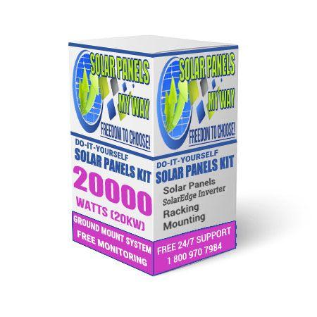 20000 Watt (20kW) Solar Ground Mount Kit With Solar Edge