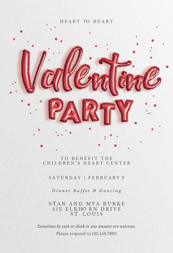 Printable Valentine Invitations Valentine Invitations Valentines Printables Free Valentine Party Invitations