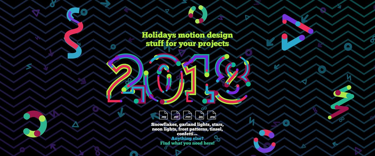 New Year and Christmas motion design assets - free download and ...