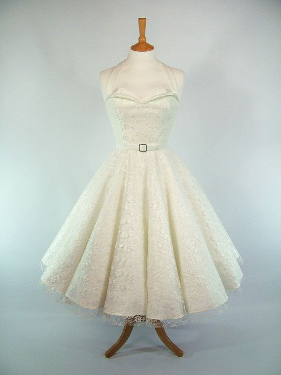 Made To Measure Full Circle Skirt Peach Cotton And Lace Dress