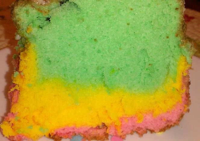 Rainbow Angel Food Cake Recipe -  Yummy this dish is very delicous. Let's make Rainbow Angel Food Cake in your home!