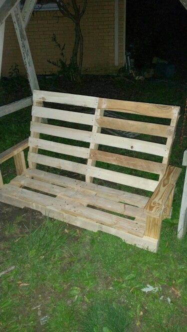 Have 0 In This Swing I Used Out Of Pallets Outdoor Furniture