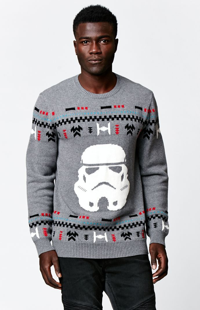 on the byas x disney star wars stormtrooper ugly christmas sweater