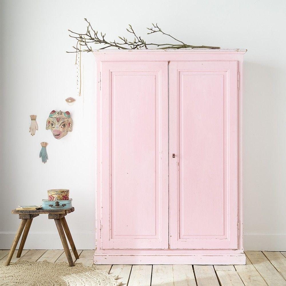 Armoire Patinee Desuet Brocante Et Objet Mobilier De Salon Armoire Rose Meubles En Ligne