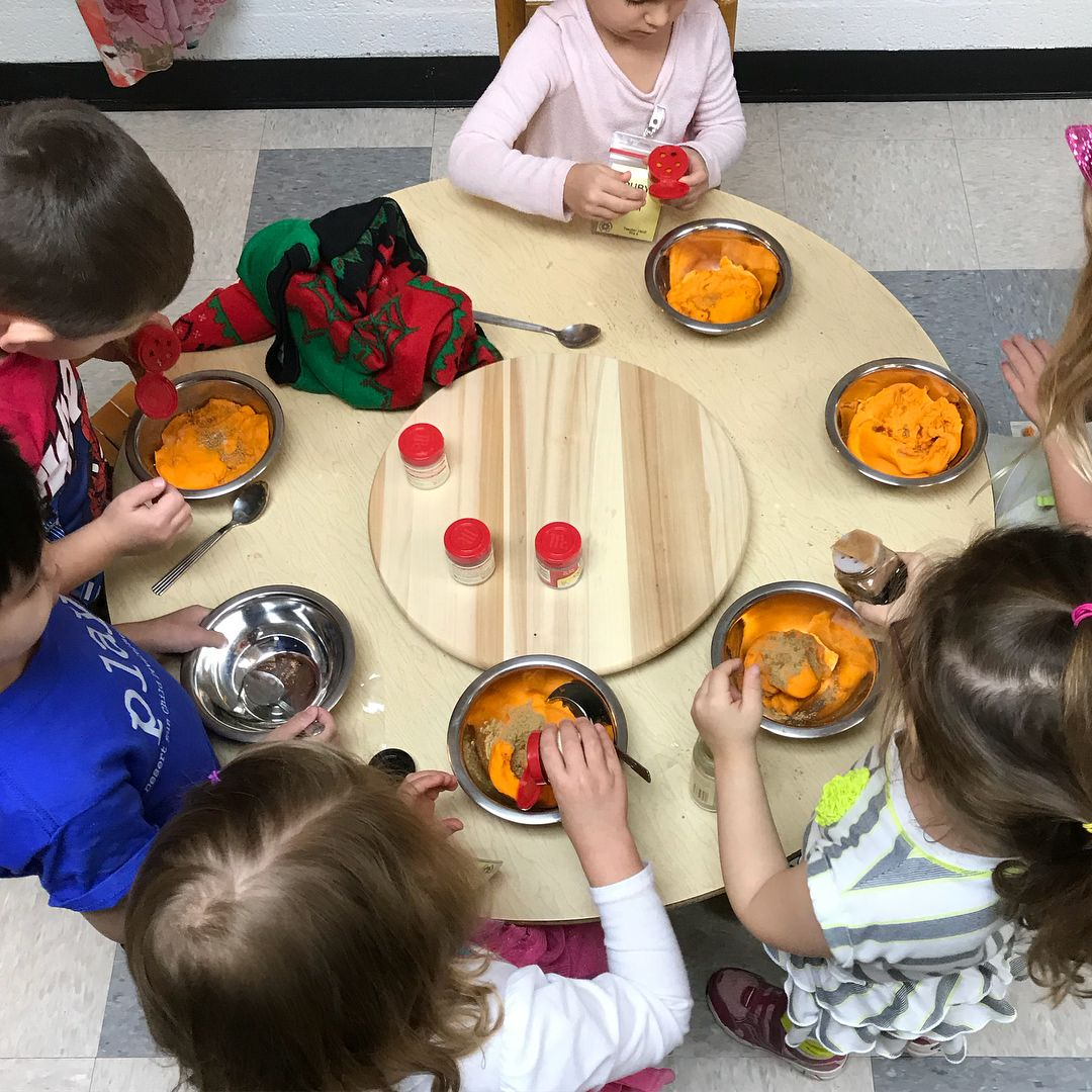 Multi Sensory Experience At The Play Dough Table