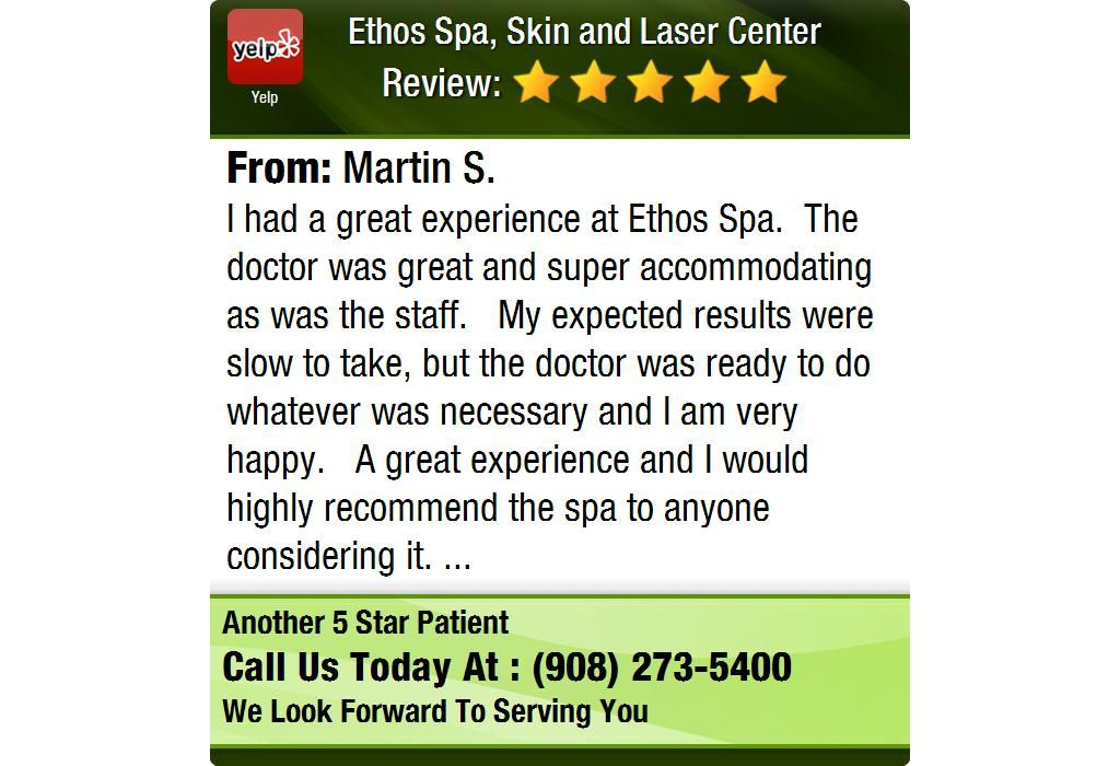 I had a great experience at ethos spa the doctor was