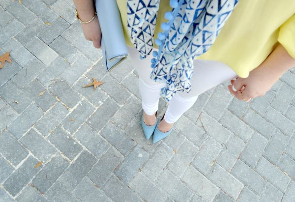Yellow & Blue - Spring Scarves