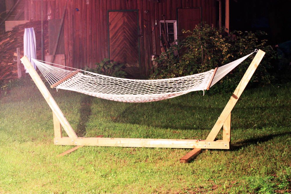DIY wooden hammock chair stand design ideas for outdoor