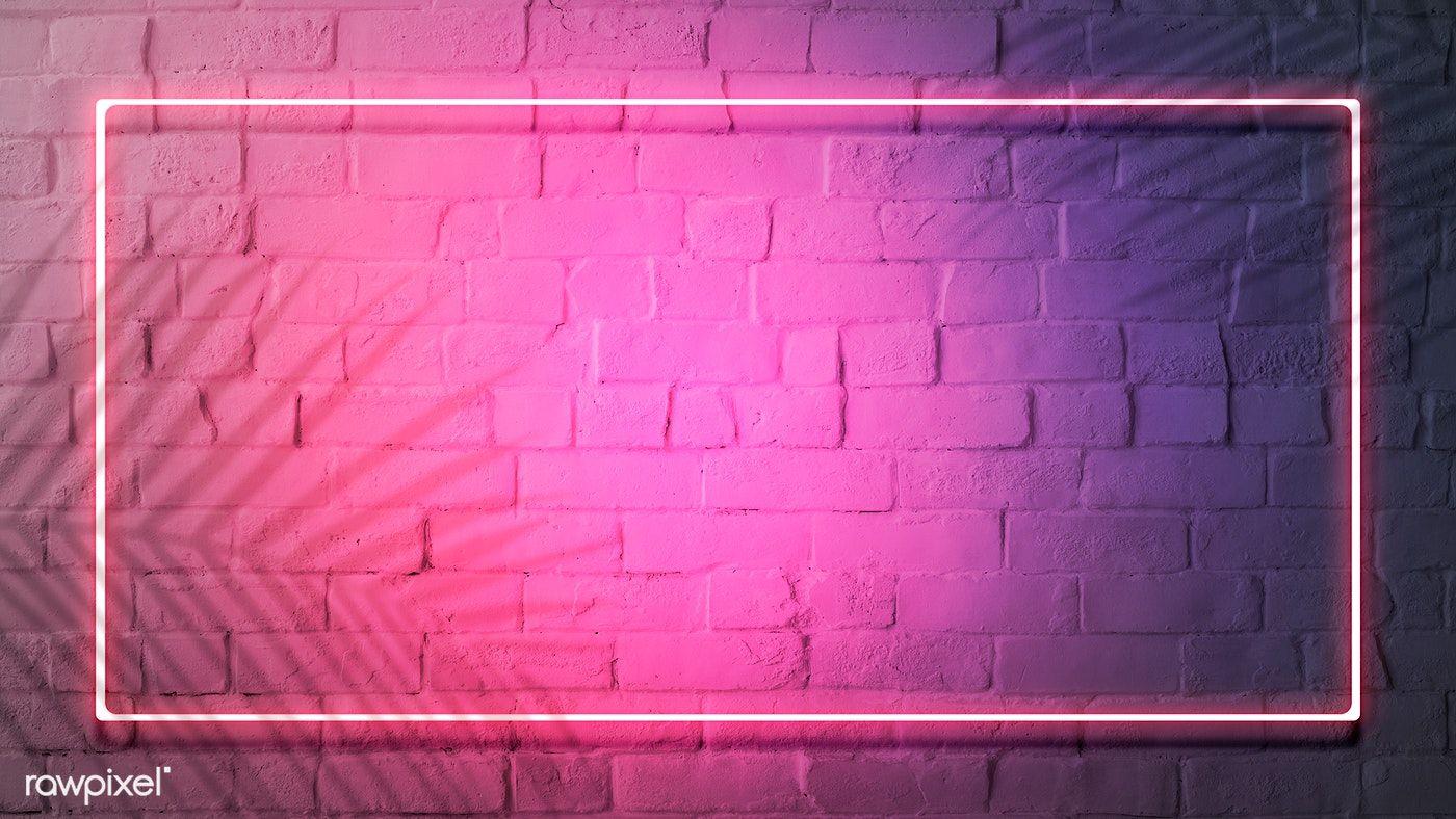 Download Premium Illustration Of Pink Neon Lights Frame On A White