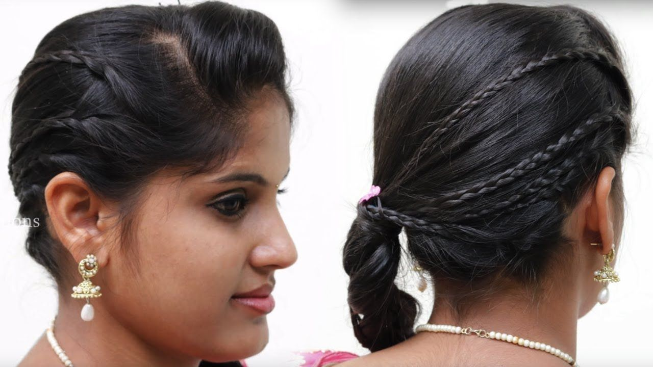 simple & easy side puff bridal hairstyle for wedding