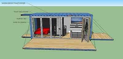 details about 20 ft transportable shipping container home 160 sqft brand new made in usa - Fertig Versand Container Huser Usa