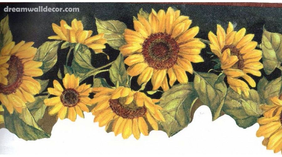 Charmant Home » BIG BOLD SUNFLOWER Wallpaper Border