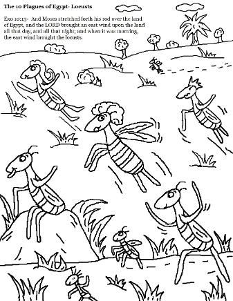 The 10 Plagues Of Egypt Coloring Pages 10 Plagues Sunday School