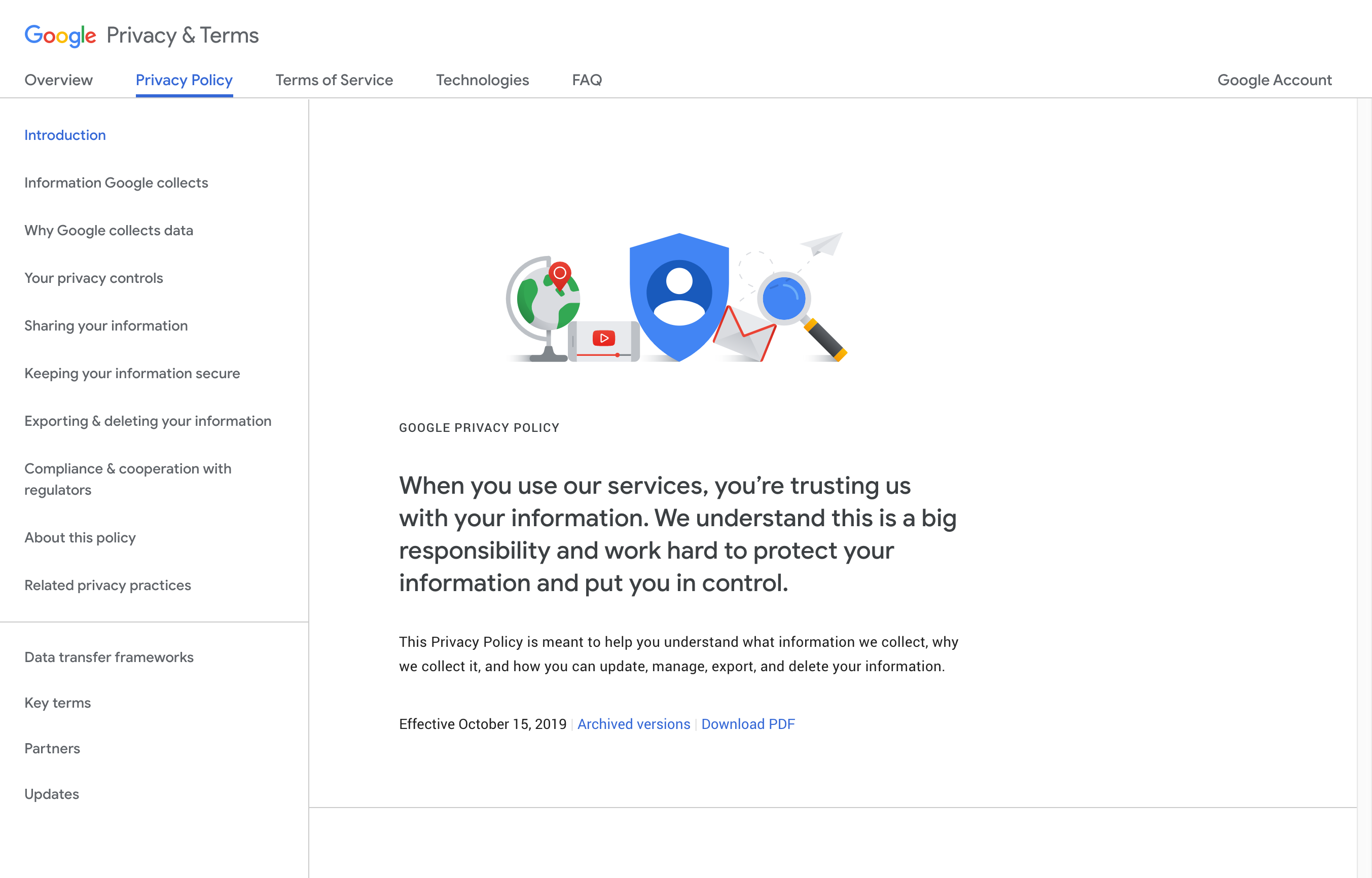 Google Tos Privacy Policy Google Privacy Privacy