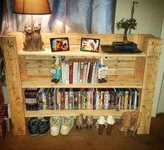 Pallet Shelf Unit Pallet Entryway Side Table Shelves