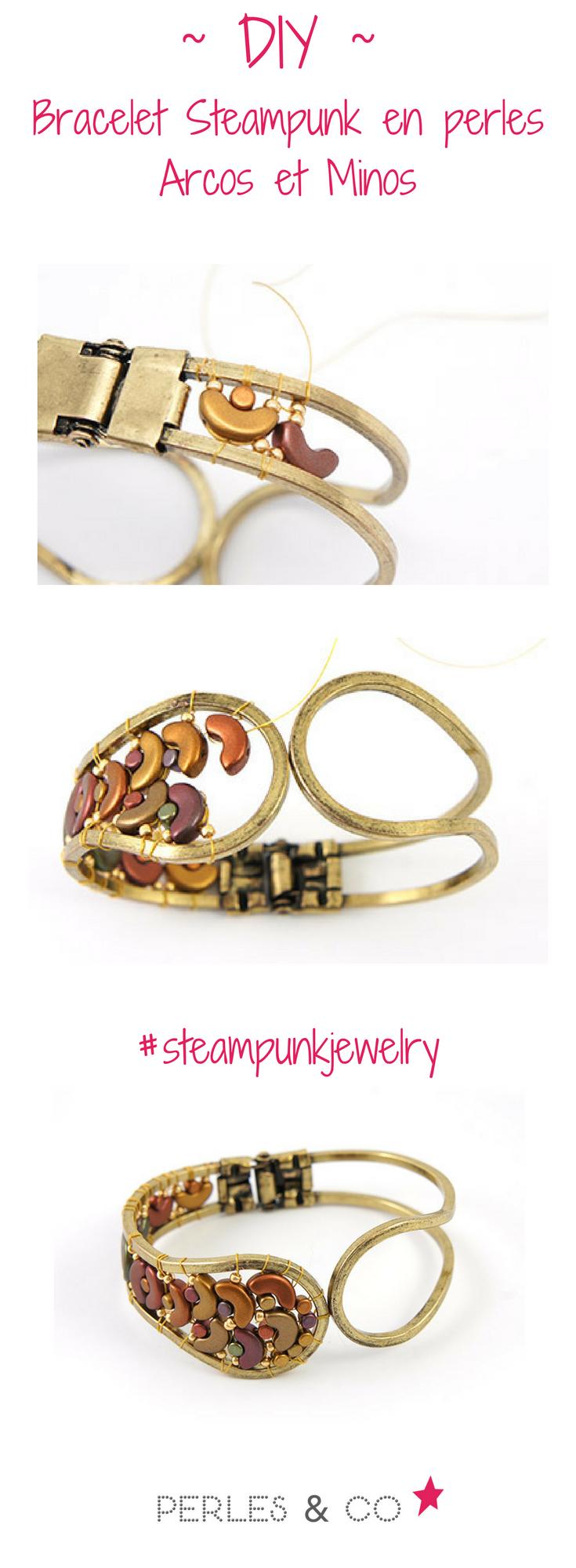 bracelet en bronze arcos et minos gold iris mat les. Black Bedroom Furniture Sets. Home Design Ideas
