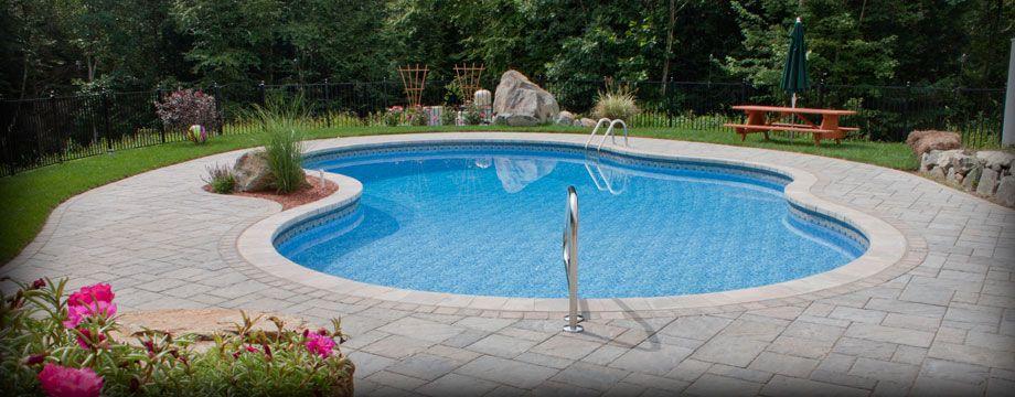 Inground Pools Shapes pictures of vinyl pools   gunite pools gallery vinyl liner pools