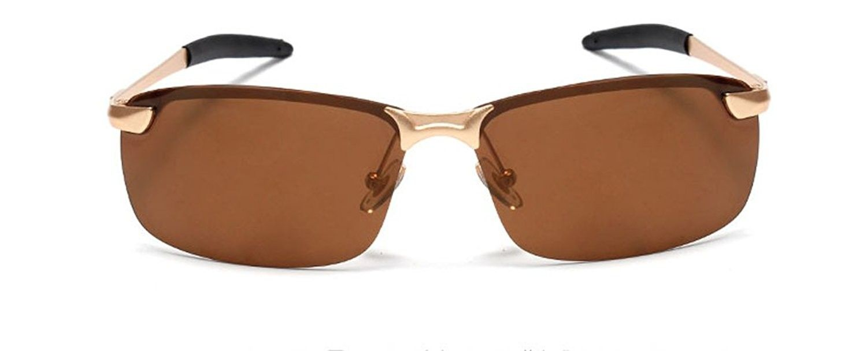 5bcaa1477e5ac Classic Semi-rimless Polarized Sport Sunglasses Metal Frame Retro Style -  Brown - CY125NKRV19 - Women s Sunglasses