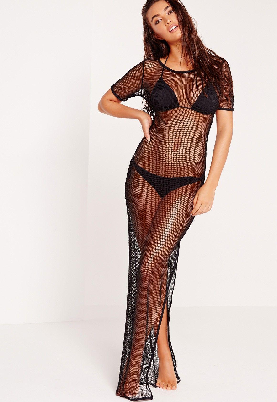 fdf7d450d7 Missguided - ABAD x Missguided Fishnet Beach Maxi Dress Black ...