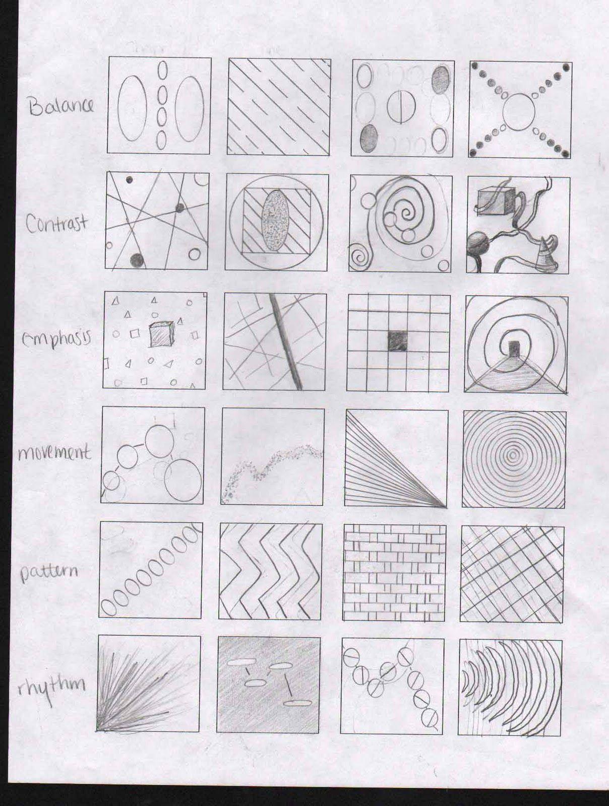 Principles Of Design Principles Of Design Art Worksheets Art Basics