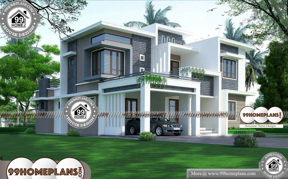 Indian House Plans Free 90 2 Storey House Designs With Balcony Indian House Plans 2 Storey House Design Two Story House Design
