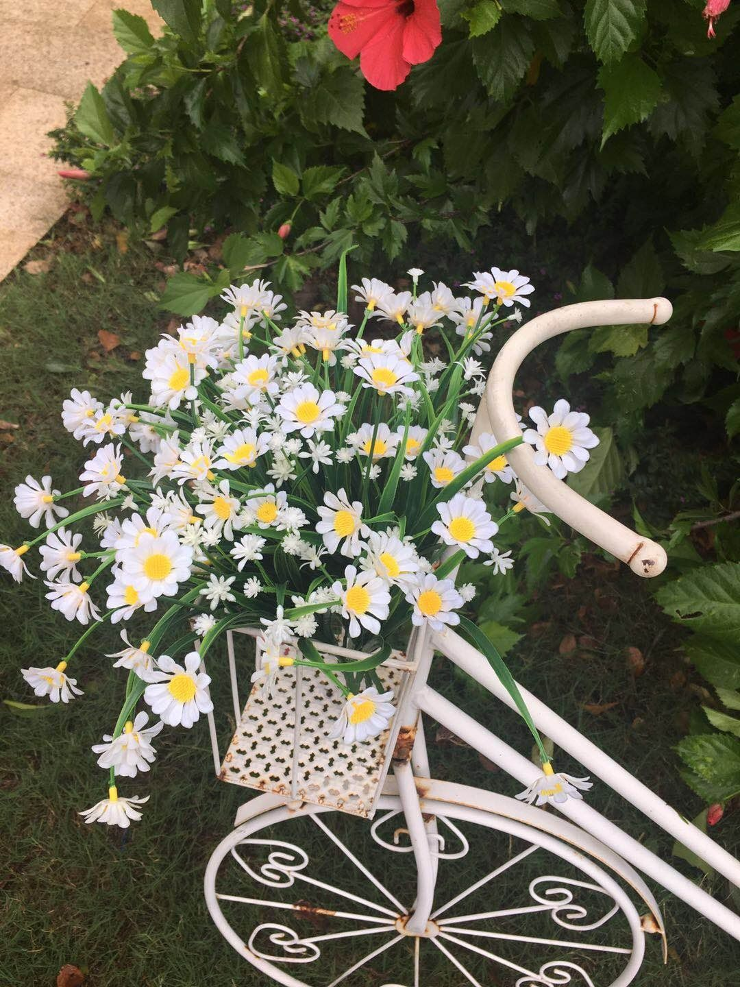 Daisies artificial flowers outdoor uv resistant daisy fake