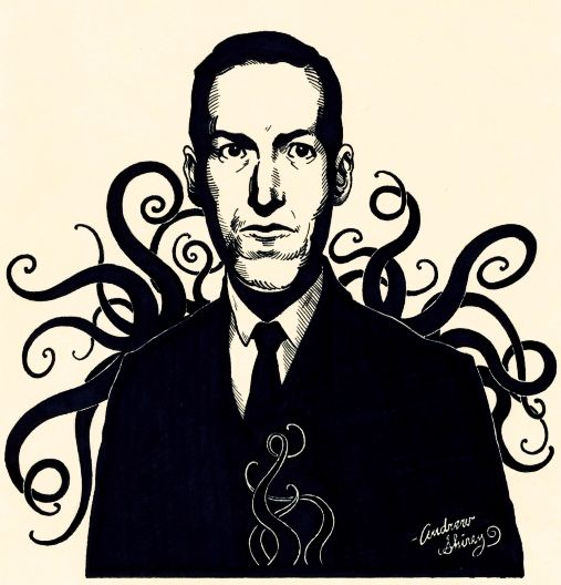 Lovecraft ink drawing by silentsketcher.deviantart.com on @DeviantArt
