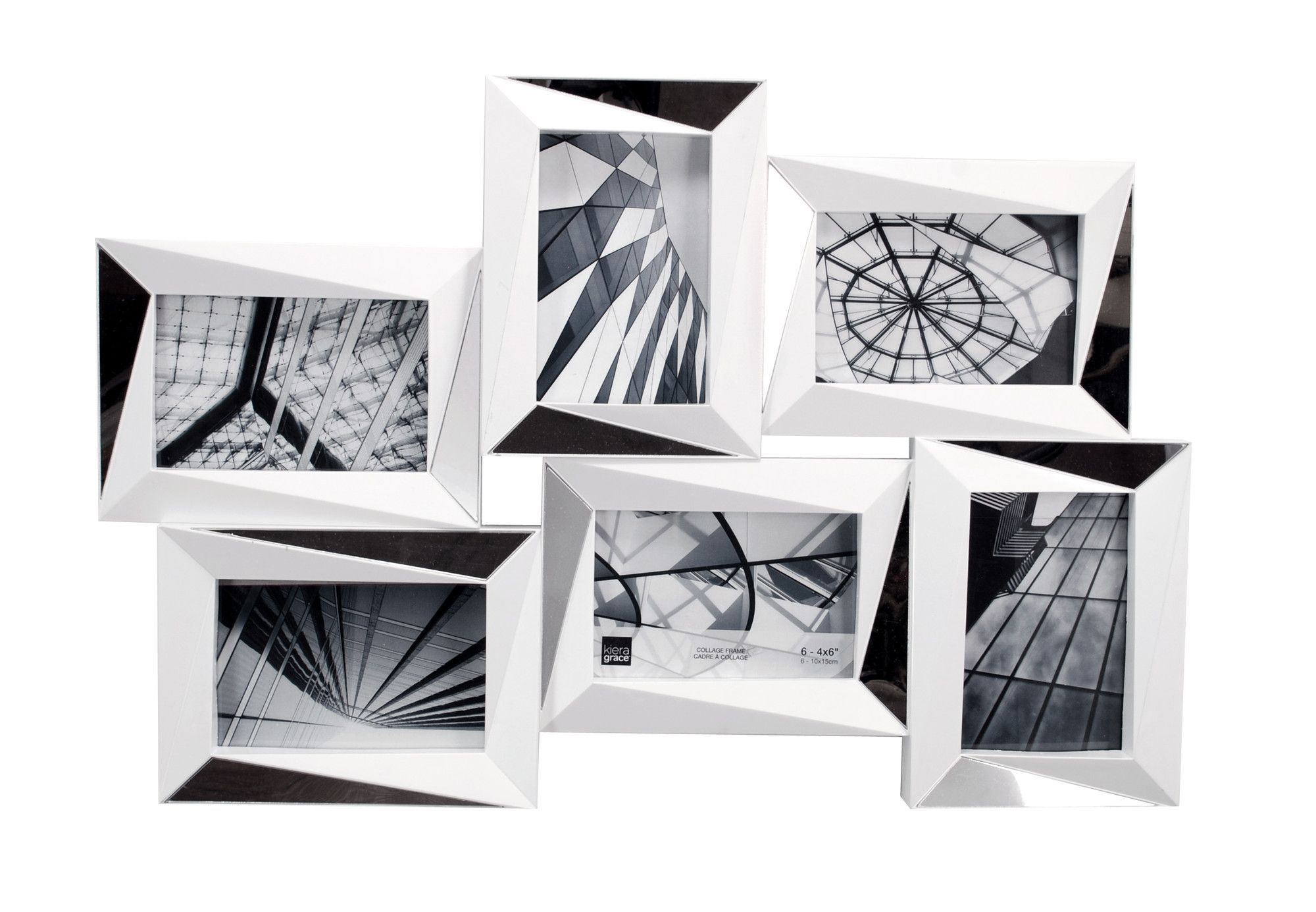 Mira 6 Piece Mirrored Wall Collage Photo Frame Set | Products ...
