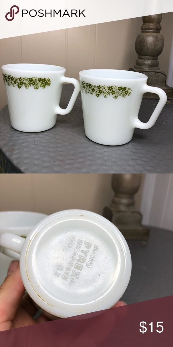 Spring Blossom Pyrex Coffee Mugs